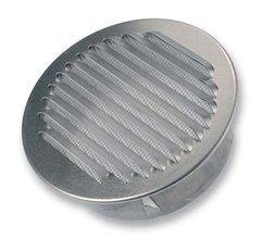 Buitenluchtrooster rond uit aluminium 100